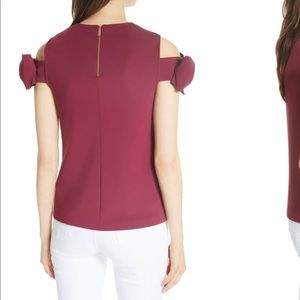 b04ca24dcb5980 Ted Baker London Tops - Ted Baker mendoll bow sleeve cold shoulder top